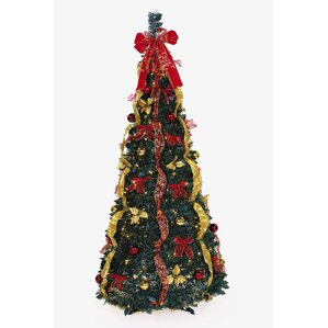 pop up 6 green artificial christmas tree with 350 clear lights - Pop Up Christmas Tree