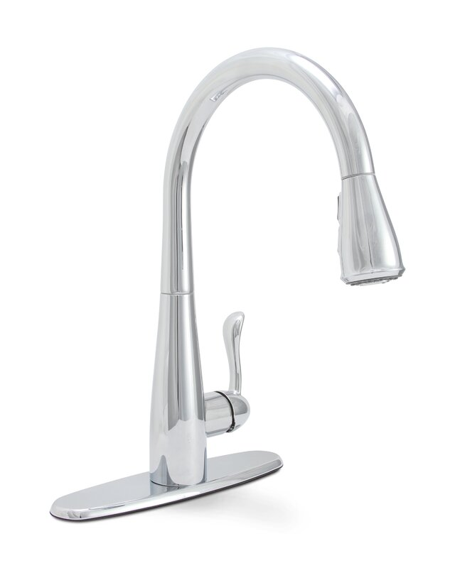 Premier Faucet Sanibel Pull Down Single-Handle Kitchen Faucet with ...
