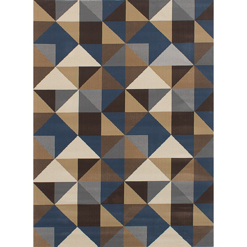 Casavant Dark Gray Tan Area Rug