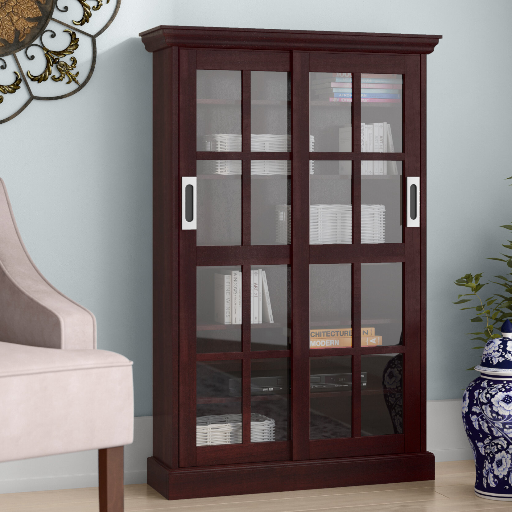 Library Cabinet With Glass Doors Wayfair