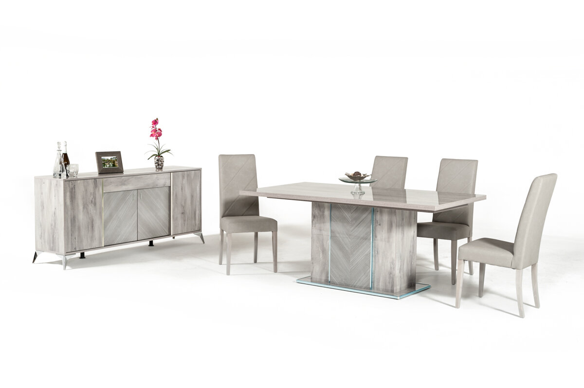 Beau Brayden Studio Labombard Modern 9 Piece Extendable Dining Set | Wayfair