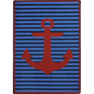 Blue/Red Area Rug