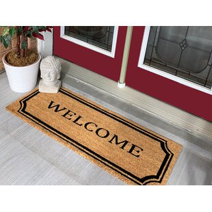 Kathi Welcome Border Extra Large Coir Double Doormat