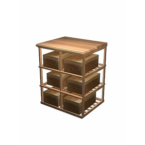 Designer Series 6 Case Double Deep 60 Bottle Floor Wine Rack by Wine Cellar Innovations