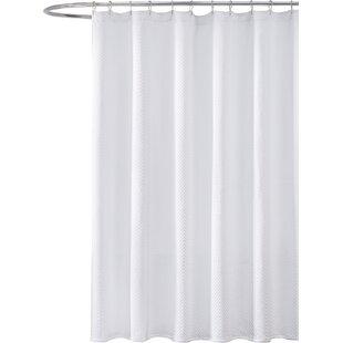 Merveilleux Godwin Cotton Chevron Shower Curtain