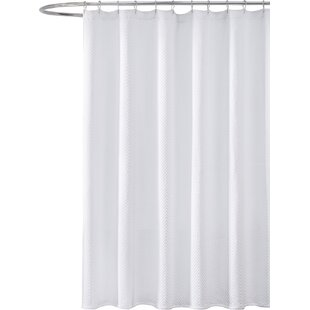 Etonnant Godwin Cotton Chevron Shower Curtain