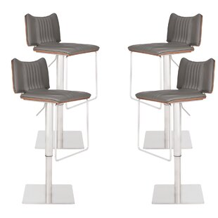 Darwen Adjustable Height Swivel Bar Stool (Set of 4)