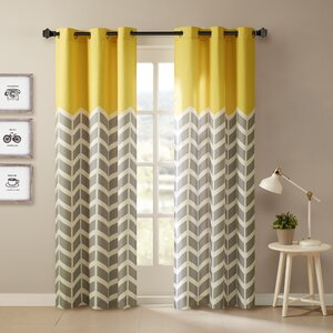 Alex Chevron Semi-Sheer Curtain Panels (Set of 2)