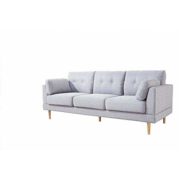 mid century modern ultra plush linen fabric sofa reviews allmodern. Black Bedroom Furniture Sets. Home Design Ideas