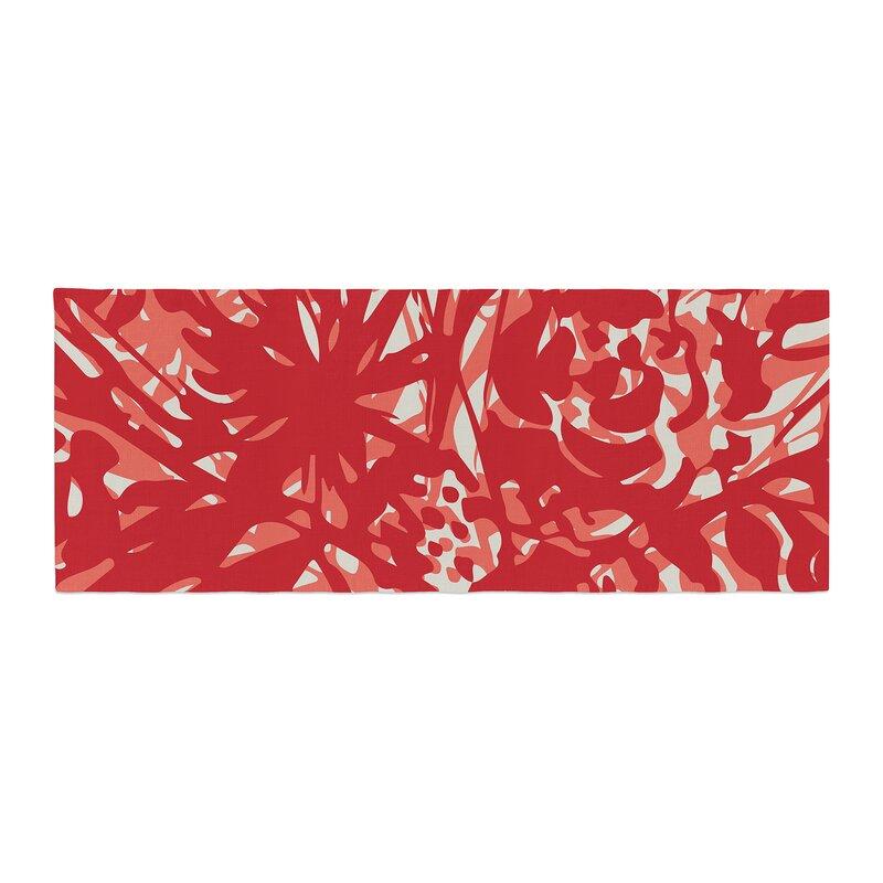 Kess InHouse Gill Eggleston Protea Strawberry White Red Flowers ...