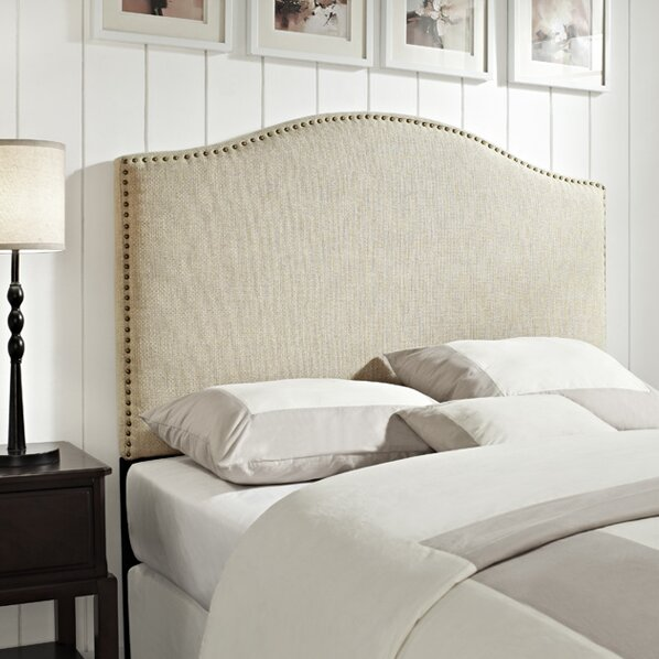 laurel foundry modern farmhouse pesmes upholstered panel headboard reviews wayfair. Black Bedroom Furniture Sets. Home Design Ideas
