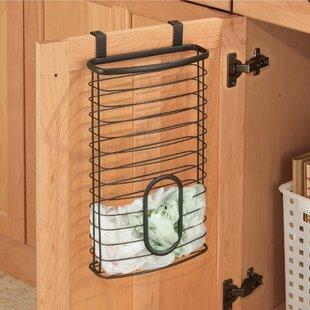 Kitchen Organizer Grocery Bag Holder Storage Over Cabinet Plastic Bag Black New Comfortable Feel Home & Garden