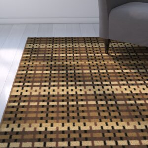 Kayla Basketcase Jet Brown/Beige Indoor/Outdoor Area Rug
