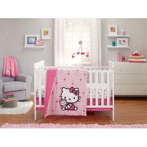 Cute as a Button 3 Piece Crib Bedding Set