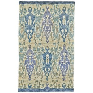 Arron Hand-Knotted Cornflower Area Rug