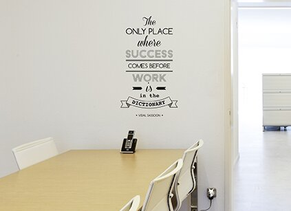 office deco. Office Deco Transfer The Only Place Where Success Wall Decal Office Deco