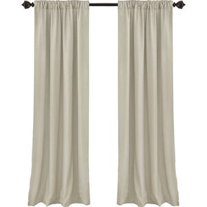 Morane Cachet Solid Blackout Single Curtain Panel