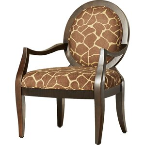 Asa Distressed Fabric Arm Chair by World Menagerie