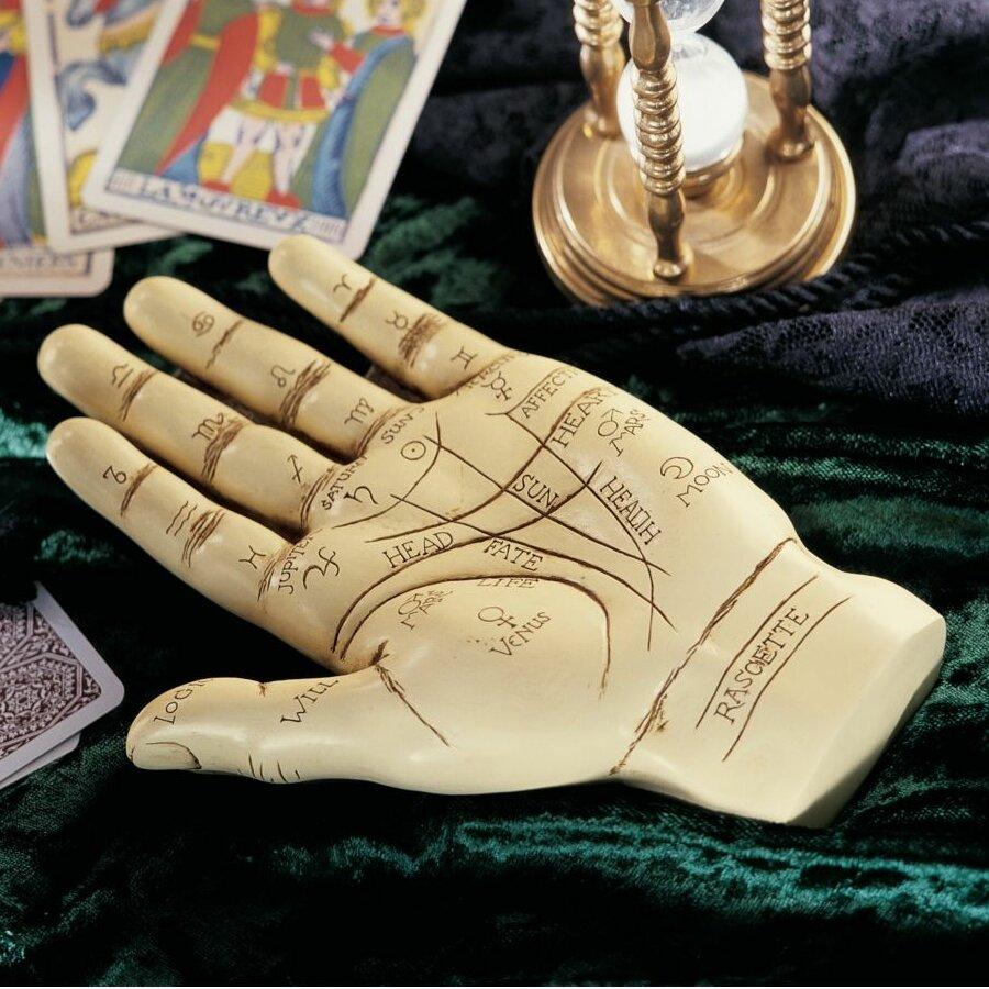 Design Toscano The Palmistry Hand Sculpture & Reviews   Wayfair