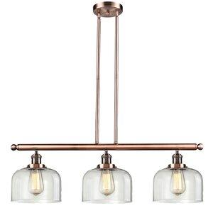 Peristeronari Glass Bell 3-Light Island Pendant
