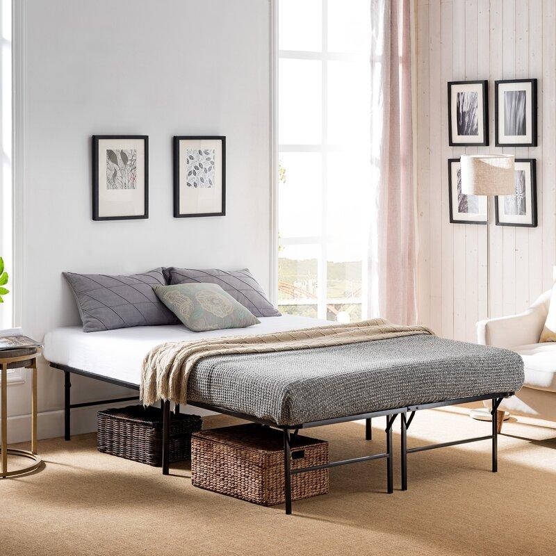 Symple Stuff Woodall Queen Iron Bed Frame | Wayfair