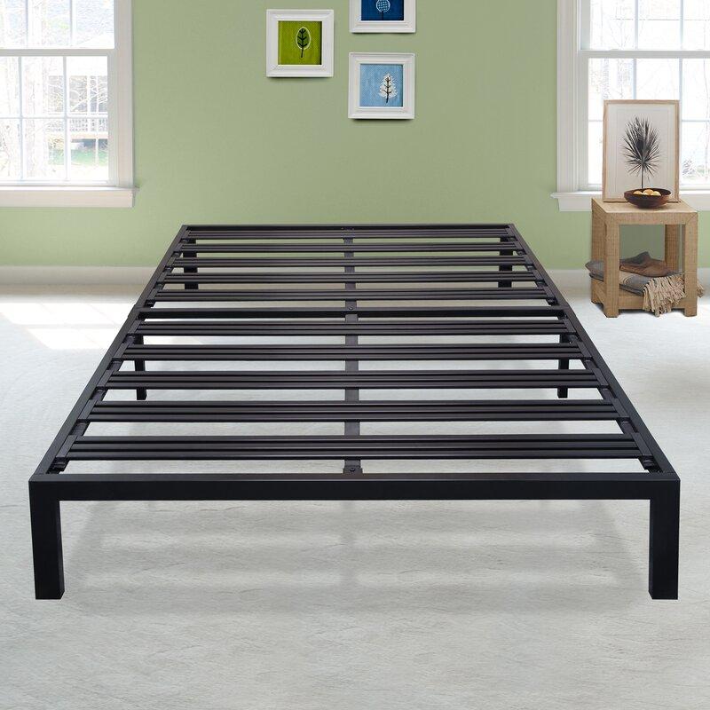 Branson Black Metal Platform Bed Frame