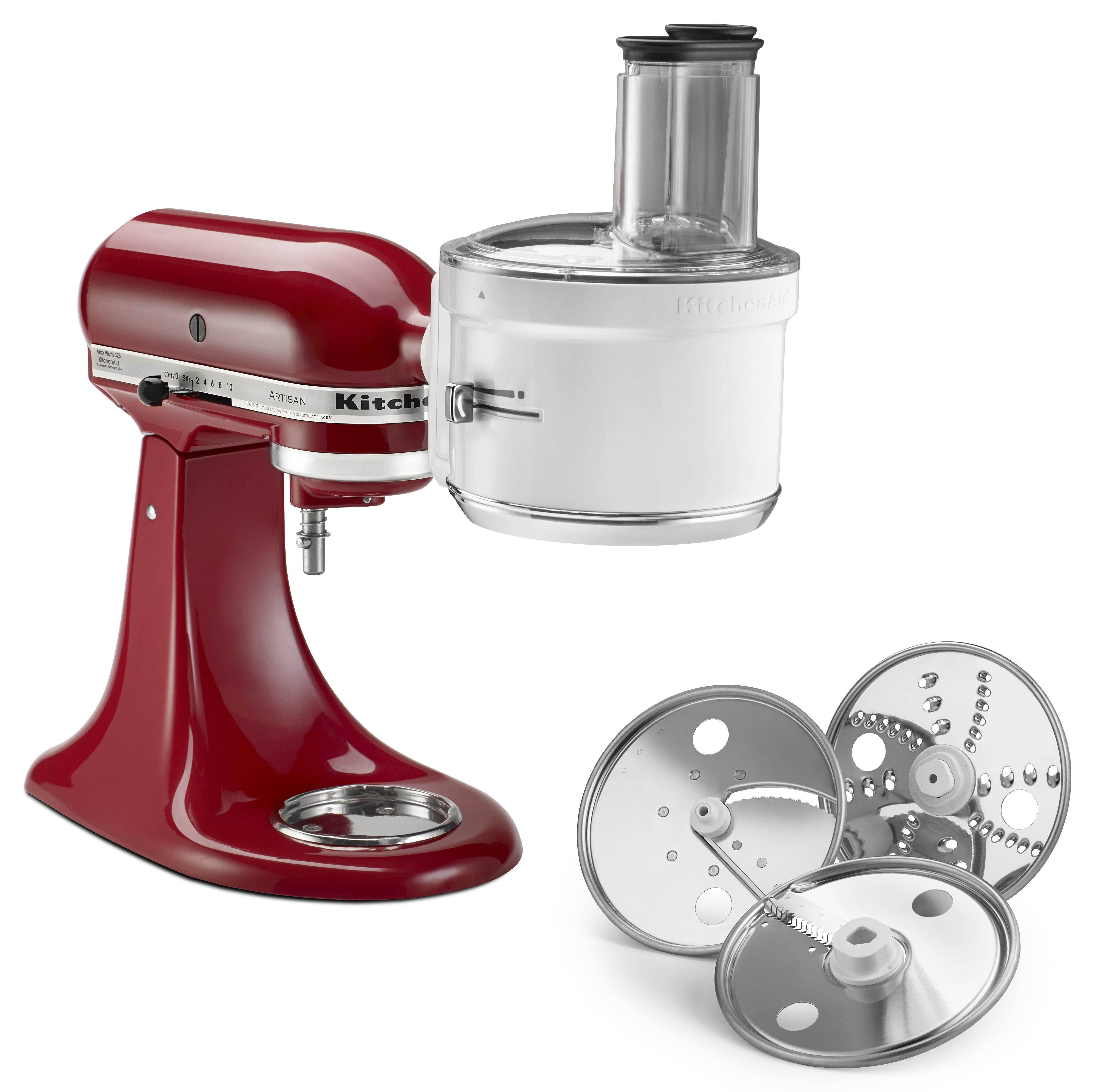 KitchenAid Food Processor Blender Accessory | Wayfair on hobart slicer shredder, kitchenaid mixer slicer attachment, kitchenaid mixer shredder,