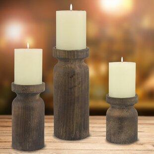 Wood Metal Candlestick