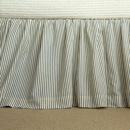 camden stripe bed skirt