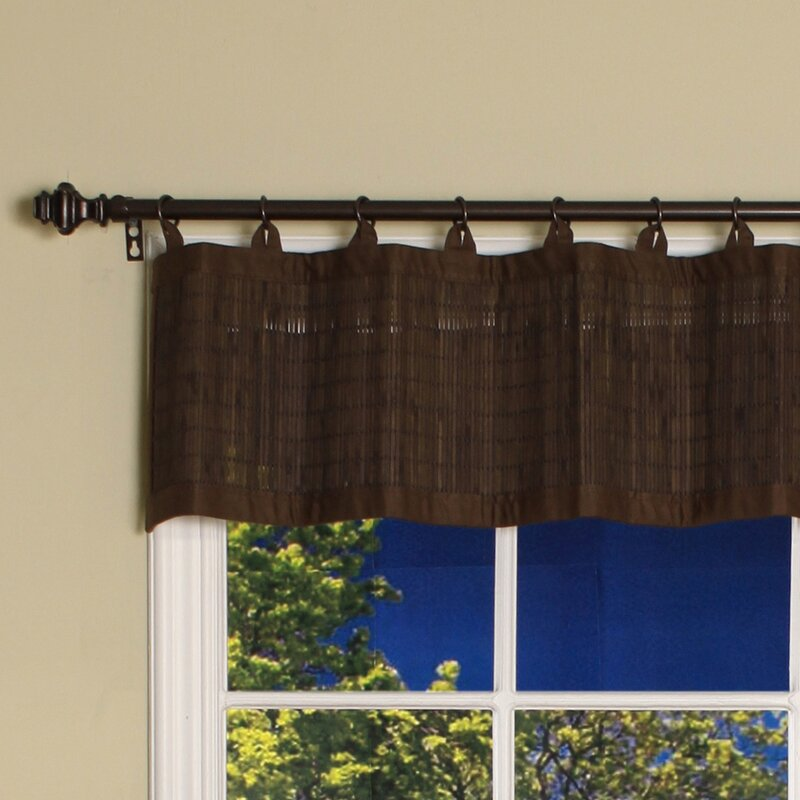 Bamboo Kitchen Curtains: Bay Isle Home Pelico Bamboo Ring Top Cotton Tailored