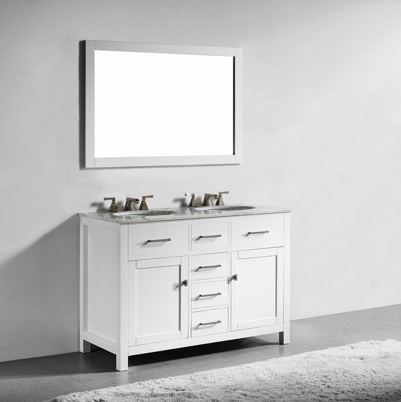 double sink vanity white.  Double Vanities You ll Love Wayfair