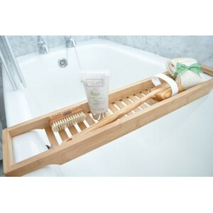 luxury slim bamboo bath bridge bathtub rack - Wooden Bathroom Accessories Uk