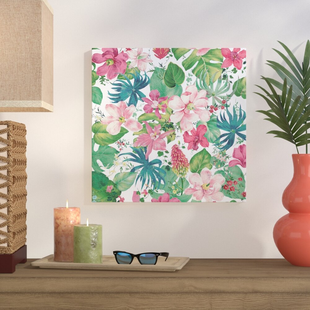 Bay Isle Home Tropical Dream Bright On White Graphic Art On Wrapped