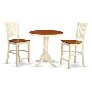 Eden 3 Piece Counter Height Pub Table Set..