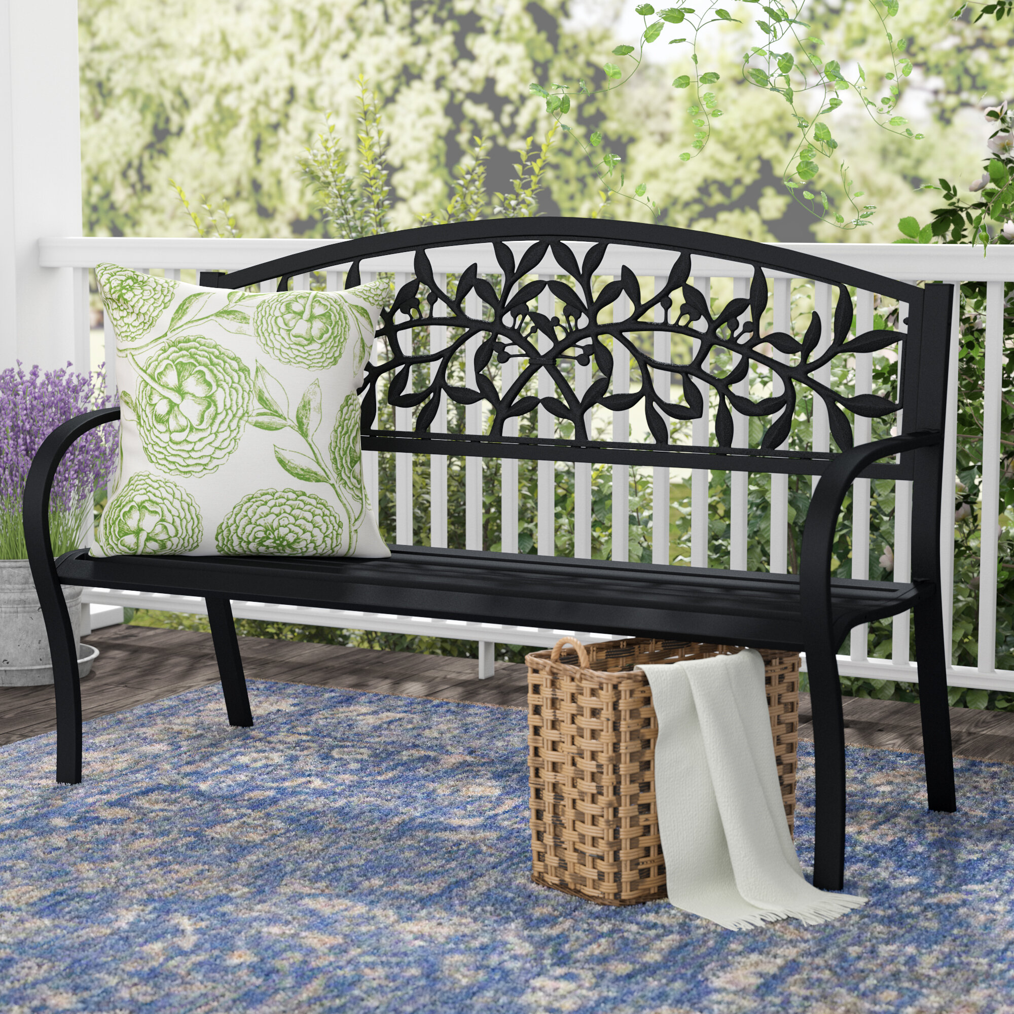 outdoor gardens backless homes garden cushions best delahey bench better photos devotee metal interior home seat and
