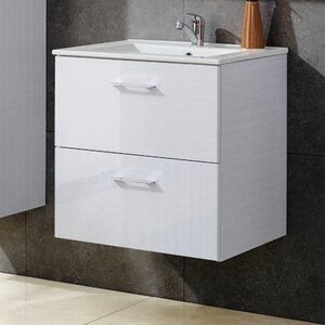 Belfry Bathroom 60 cm Wandmontierter Waschtisch Viento Terra