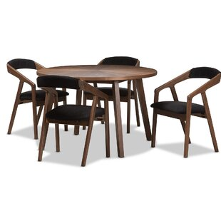 Averi Mid-Century Modern 5 Piece Breakfast Nook Dining Set