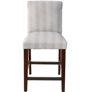 Cynthia Faux Fur Upholstered Bar Stool by Darby ..