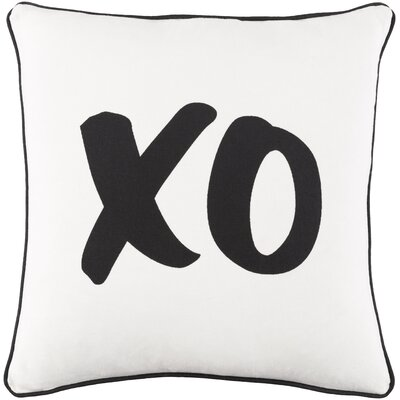 Ivy Bronx Yahya XO Cotton Throw Pillow Cover