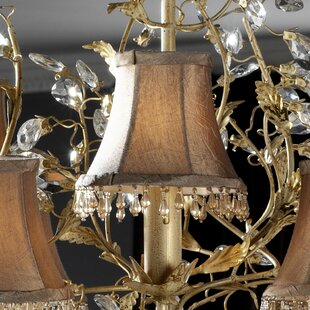 Chandelier lamp shades youll love wayfair pinza 13cm silk bell candelabra shade aloadofball Images
