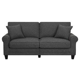 Dark gray couch Fabric Quickview Cream Dark Brown Buttercream Charcoal Gray Wayfair Dark Gray Couch Wayfair