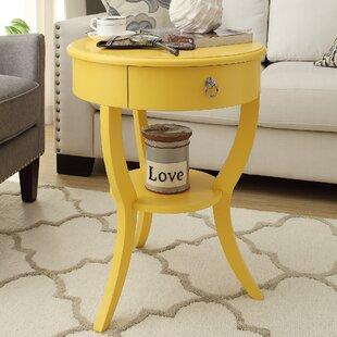 Superieur Yellow Accent Table | Wayfair