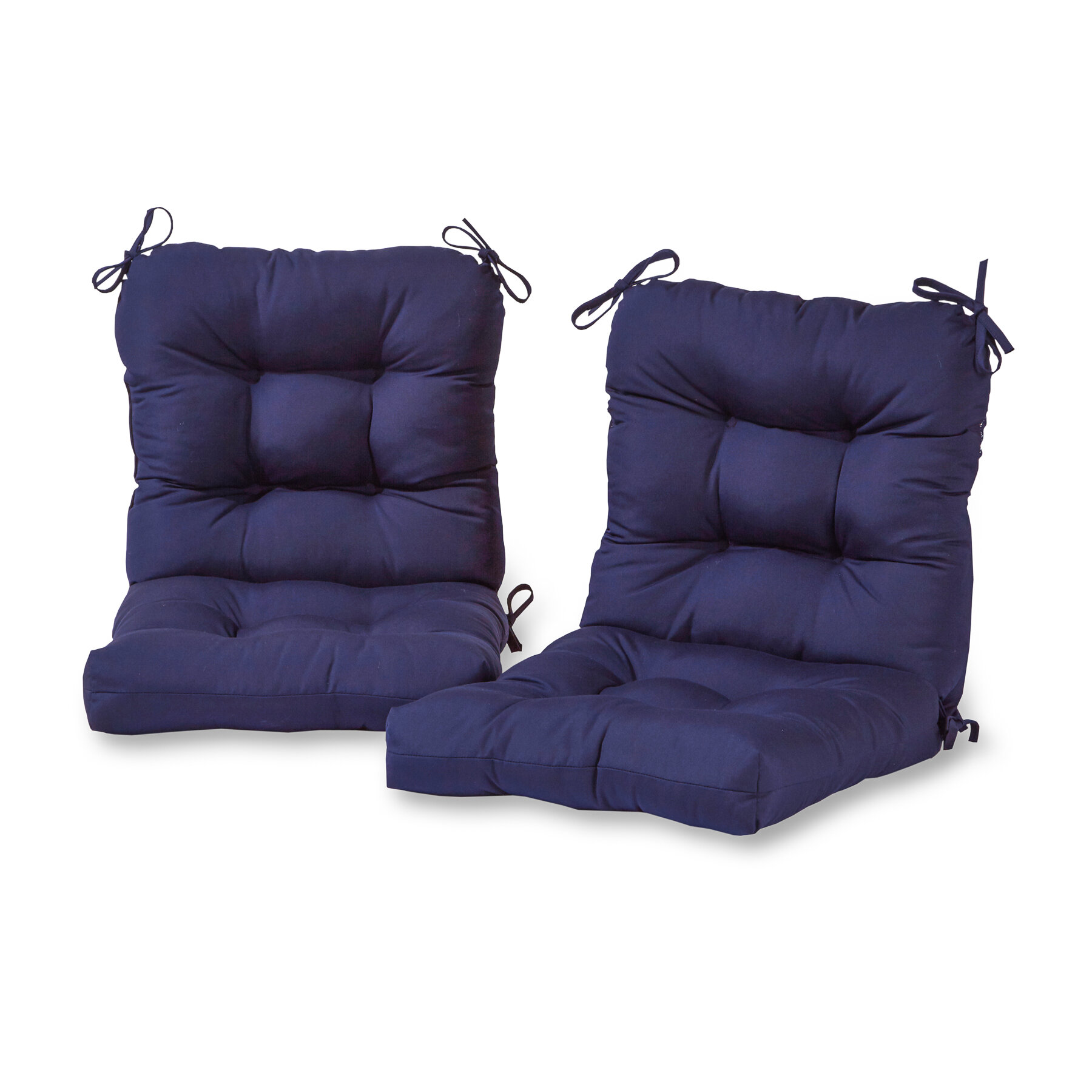 Andover Mills Sarver Indoor Outdoor Seat Back Chair Cushion Set Of 2