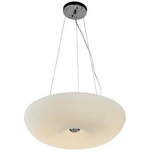 Swirled 3 Light Inverted Pendant