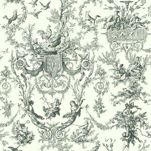 Campagne 33' x 20.5 Toile Distressed Wallpaper