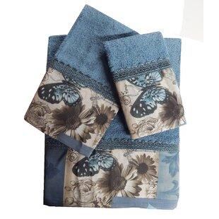 Charmant 3 Piece 100% Cotton Towel Set