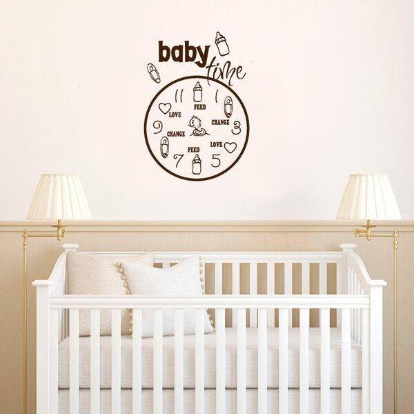 Attirant Zoomie Kids Herrington Baby Time Vinyl Words Wall Decal U0026 Reviews | Wayfair