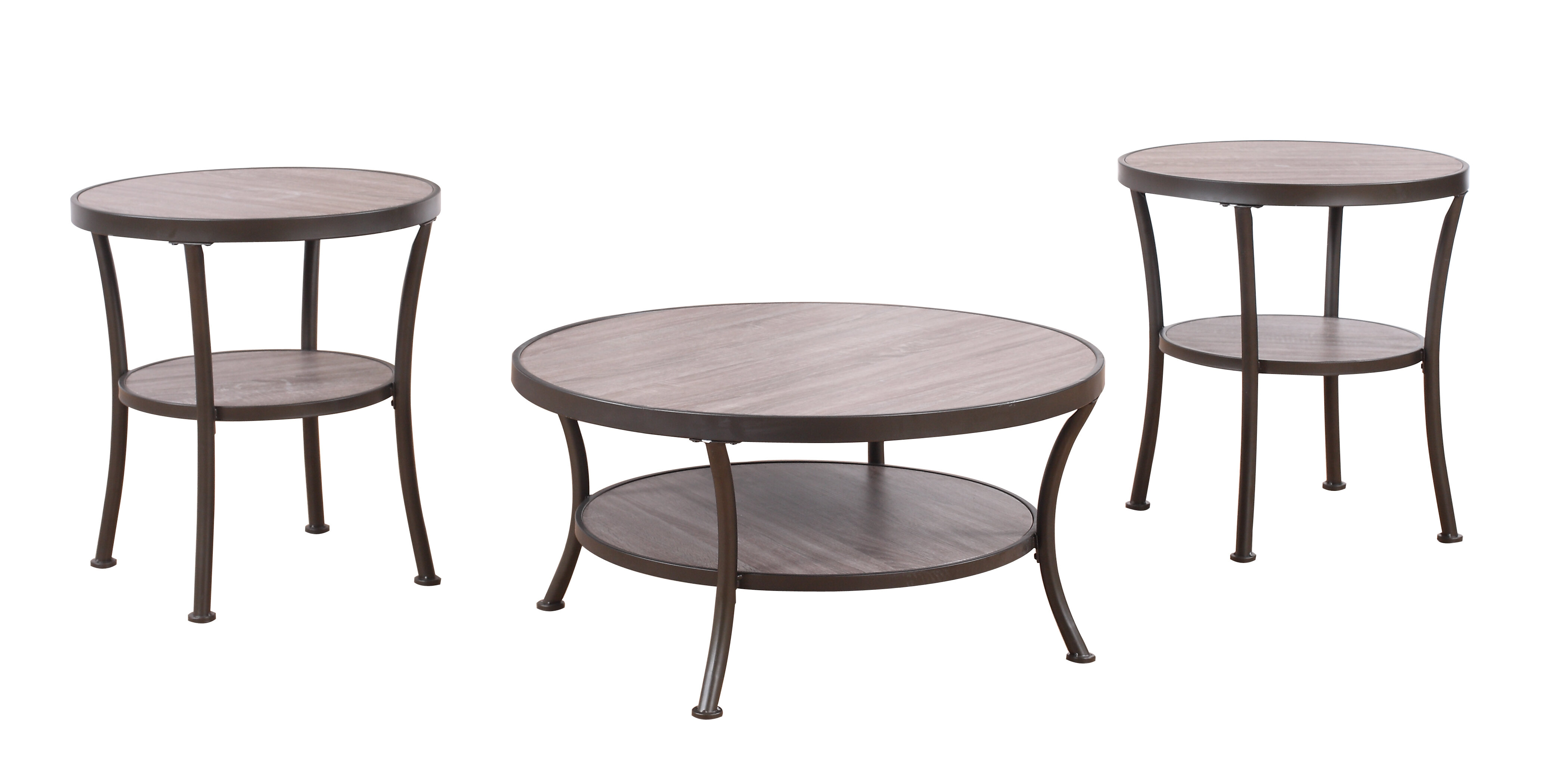 Madison Home USA 3 Piece Coffee Table and End Table Set & Reviews