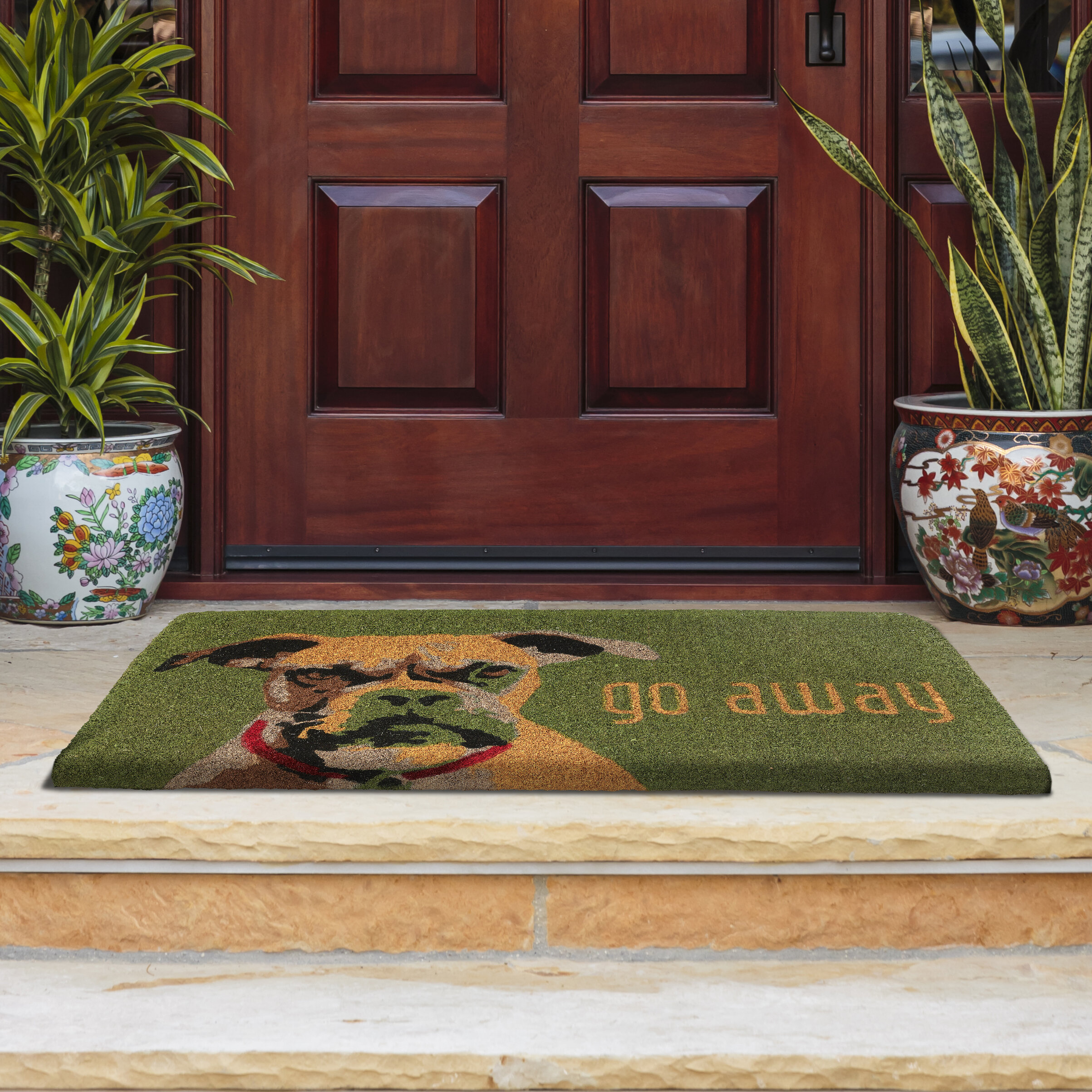 Fab Habitat Go Away Door Mat | Wayfair