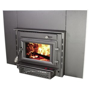 Medium EPA Certified Wall Mount Wood Burning Fireplace Insert by United St..